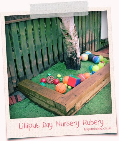 ball toy area at rubery day nursery
