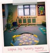 the activity table in the little learners area in rubery
