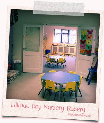 the little learners messy area at rubery
