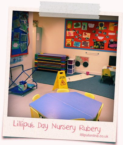 photograph of the little learners messy area at rubery nursery birmingham