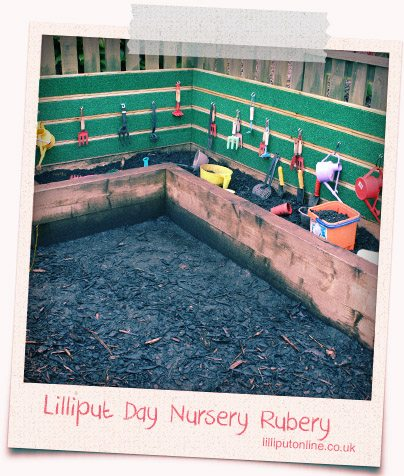 Childrens Muddy Corner at Rubery Day Nursery Birmingham
