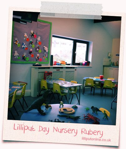 photograph of the pre school room and toys at rubery day nursery