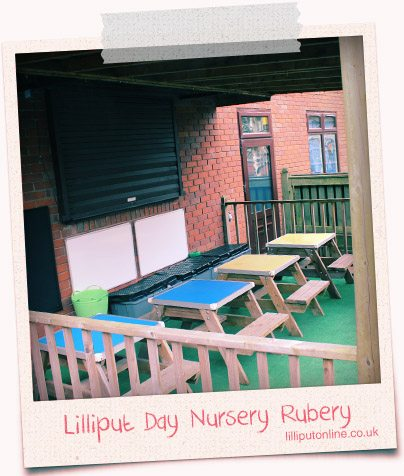 benches undercover at rubery day nursery birmingham