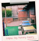 covered outside play area at rubery day nursery