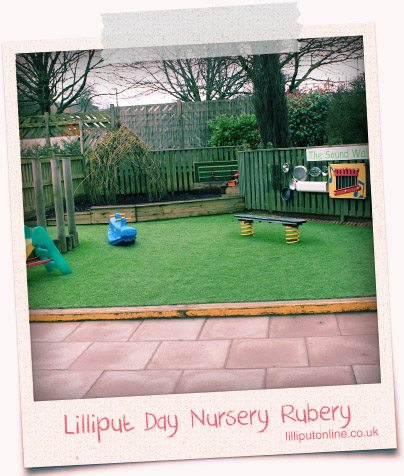 wide shot of the garden and outside pay area at rubery day nursery birmingham
