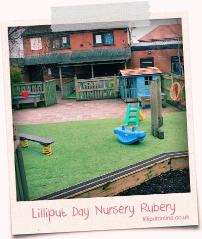 the outside play area at rubery day nursery birmingham